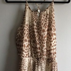 Cheetah Print Dressbarn High Low Dress